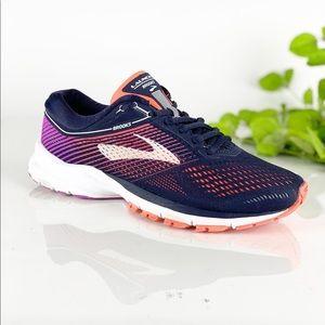 Brooks Launch 5 Navy Coral Purple Running Shoe